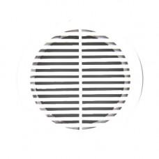 Решётка вентиляционная 249*249 мм, 2525РР разъёмная, БЕЛАЯ, АВС