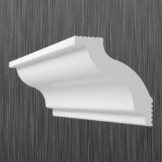 Плинтус декоративный потолочный C- 65, L=2000 мм, БЕЛЫЙ, (упак-75 шт)