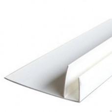 Профиль F-образный, 60* 20*15 мм, длина 3 м, БЕЛЫЙ, (упак-20 шт) ЕП