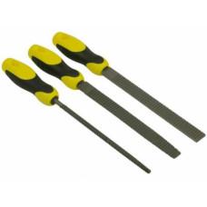 Набор рашпилей 200 мм, пластмассовая ручка, набор-3 шт, (упак-5 наб) STAYER