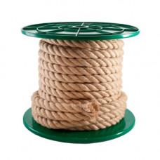 Веревка крученая джутовая,  6 мм, (упак-200 м)
