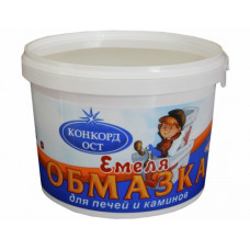 Обмазка для ПЕЧЕЙ и КАМИНОВ15 кг  ЕМЕЛЯ