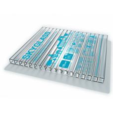 Поликарбонат  6000*2100* 4,0 мм, ПРОЗРАЧНЫЙ, лист-12,6 кв.м, SKYGLASS