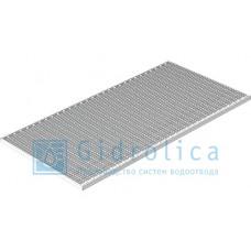 Решетка Step PRO 490*990 мм, стальная ячеистая оцинкованная