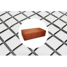 Сетка базальтовая 25*25 мм, 0,37*50 м  (рулон -18,5 кв.м)