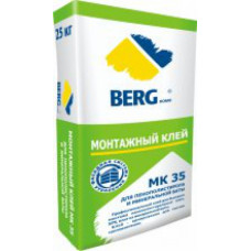 Клей монтажный МК35, для пенополистирола и минваты, 25 кг, ЛЕТНИЙ, (упак-48 шт) BERGhome