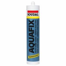 Герметик SOUDAL AQUAFIX, кровельный, пласто-эластичный, БЕСЦВЕТНЫЙ, 310 мл, (упак-15 шт)