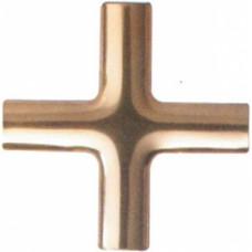 Накладка на соединитель, КРЕСТОВАЯ, алюминиевая, ЗОЛОТО, (упак-420 шт) BAVIERA