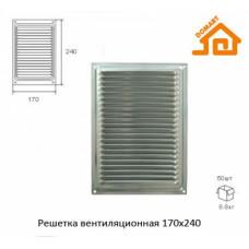Решётка вентиляционная 170*240 мм, БЕЛАЯ, ДОМАРТ