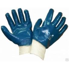 Перчатки нитриловые, полный облив, манжета, (упак- 12/120 пар)