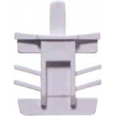 Торцевая защёлка, ПОЛУКРУГЛОЕ соединение, БЕЛАЯ, (упак-600 шт) ELISABET