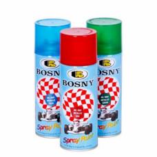 Краска аэрозоль акриловая, металлический эффект, ГОЛУБОЙ, 400 ml, (упак-12 шт) BOSNY