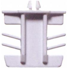 Торцевая защёлка 8*18 мм, пластиковая, С ФИКСАТОРОМ, БЕЛАЯ (упак-600 шт) ELISABET