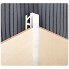 Раскладка внутренняя под плитку 10*2500 мм, БЕЛАЯ, (упак-50 шт) ИДЕАЛ