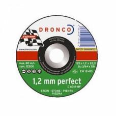 Круг отрезной по камню 125*1,2*22,23 мм, C60 R, (упак-25 шт) DRONCO