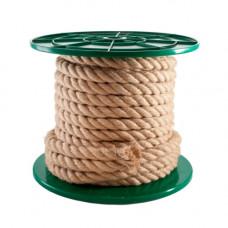 Веревка крученая джутовая,  4 мм, (упак-500 пог.м)