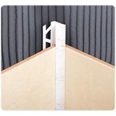 Раскладка внутренняя под плитку  8*2500 мм, БЕЛАЯ, (упак-50 шт) ИДЕАЛ