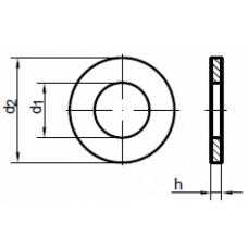 Шайба DIN125/A2 M 19, (упак-200 шт)