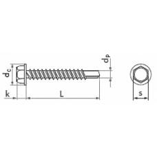Саморез DIN 7504 K/A2, 4,8*16, (упак-500 шт)