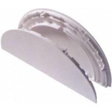 Соединитель 8*18*25 мм, ПОЛУКРУГЛЫЙ, пластиковый, БЕЛЫЙ, (упак-80 шт) ELISABETH