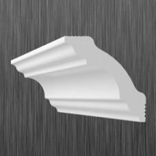 Плинтус декоративный потолочный K- 50, L=2000 мм, БЕЛЫЙ, (упак-62/70 шт)