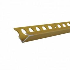 Профиль окантовочный для плитки 7*2500 мм, ЗОЛОТО ЛЮКС, (упак-30 шт)