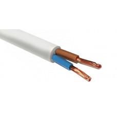 Провод соединительный ПВС 2*1,5 кв.мм, БЕЛЫЙ, (упак-100 пог.м)