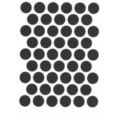 Заглушка D14 самоклеющаяся, ЧЕРНАЯ, упаковка-54 шт