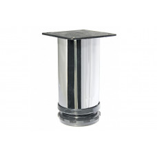 Опора для КМ  30*100 мм, круглая, регулируемая, ХРОМ, (упак-100 шт) IG
