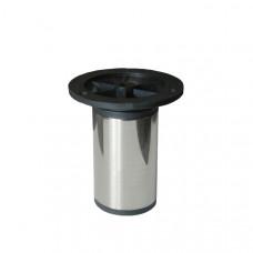 Опора для КМ  50*100 мм, ЦОКОЛЬ, ХРОМ, (упак-100 шт) IG
