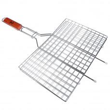 Решетка-гриль для мяса, 460*340*220 мм, углеродистая сталь, хромированная, GRILLBOOM