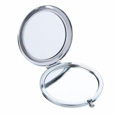 Зеркало карманное, металл, стекло, D7,5 см, 7-8 дизайнов