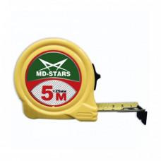 """Рулетка  5 м*25 мм, модель 67, ЖЕЛТАЯ, """"MD-STARS"""""""