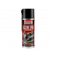 Смазка SOUDAL Silicone Spray 400 мл, аэрозольная, (упак-6 шт)