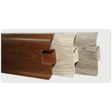 Плинтус напольный ПВХ 55*2500 мм, мягкая кромка, кабель-канал, ВЕНГЕ, (упак-40 шт) ИДЕАЛ КОМФОРТ